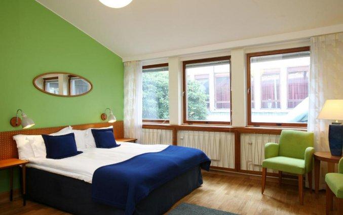Tweepersoonskamer in hotel Scandic Norra Bantorget in Noorwegen