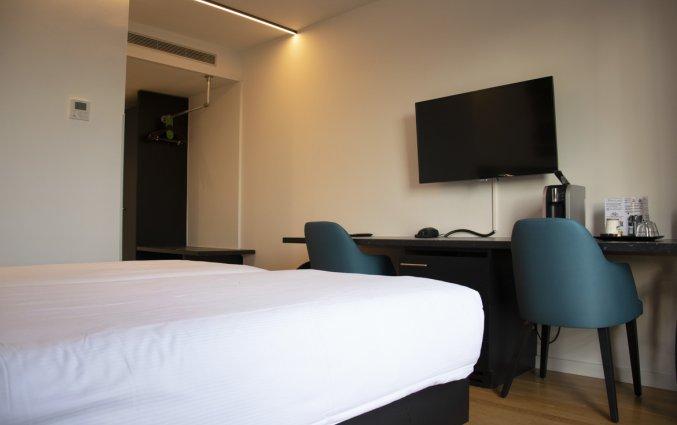 Tweepersoonskamer van Hotel Velotel in Brugse Ommeland