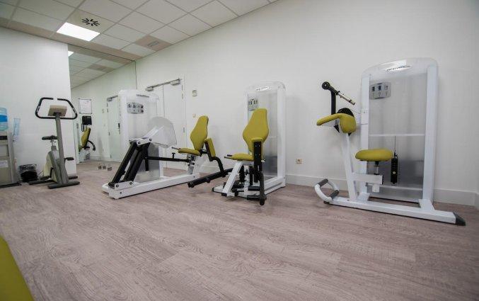 Fitnessruimte van Hotel Velotel in Brugse Ommeland