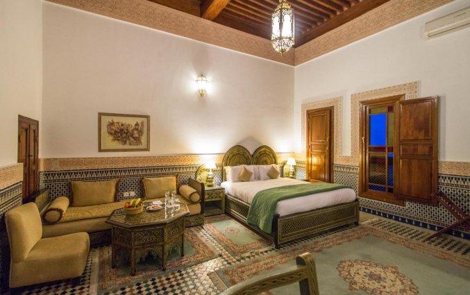 Tweepersoonskamer van Riad Myra in Fez