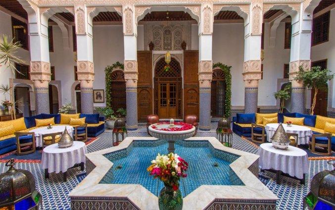 Binnentuin van Riad Myra in Fez