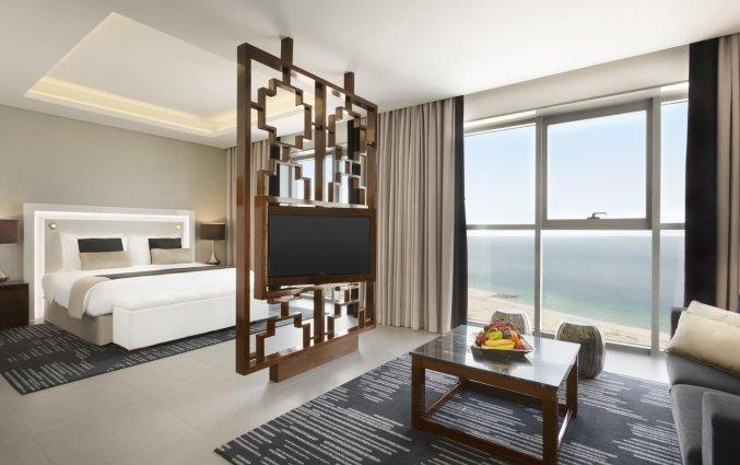Tweepersoonskamer van hotel Wyndham Dubai Marina