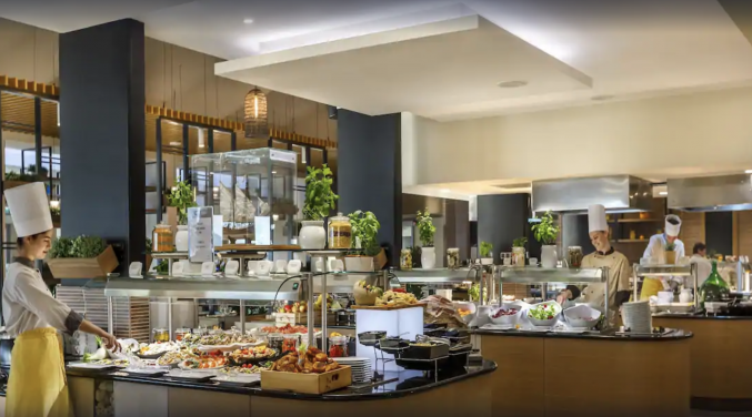 Buffet van Hotel Valamar Argosy in Dubrovnik
