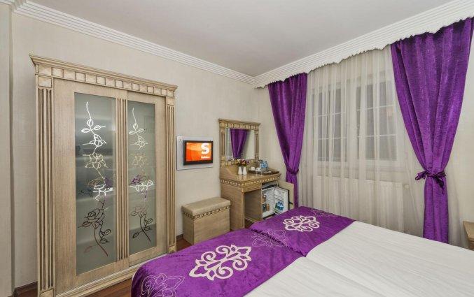 Tweepersoonskamer van hotel Istanbul Holiday