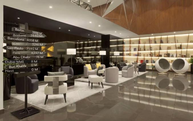 Lobby van hotel TRYP by Wyndham Dubai