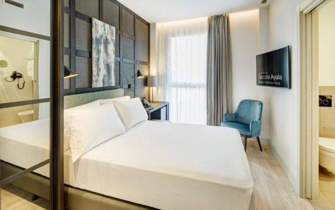 Tweepersoonskamer van Hotel Sercotel Ayala in Bilbao