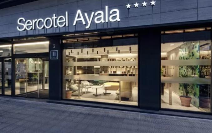 Entree van Hotel Sercotel Ayala in Bilbao