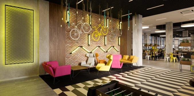 Bar van Hotel Start Atos in Warschau
