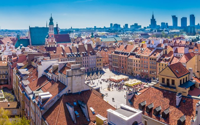 Warschau - Uitzicht Marktplein
