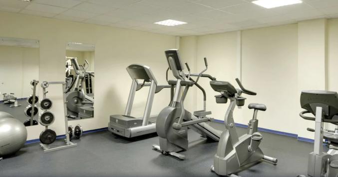 Fitnessruimte in hotel Novotel Centre Moskou