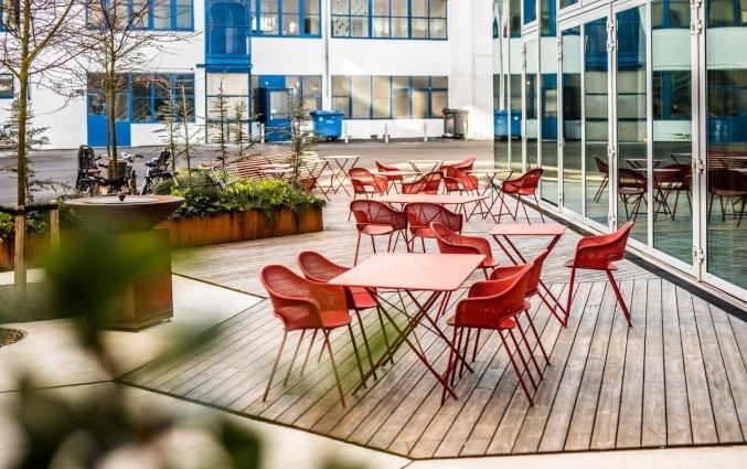 Terras van Hotel Scandic Kodbyen Kopenhagen
