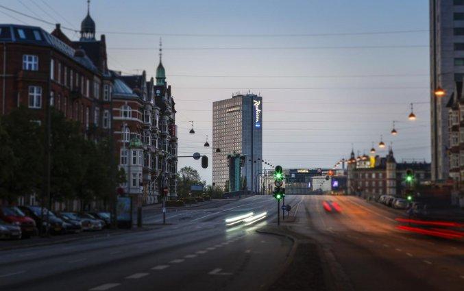 Straat van Hotel Radisson Blu Scandinavia in Kopenhagen