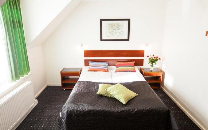 Tweepersoonsbed van Hotel Ansgar Kopenhagen