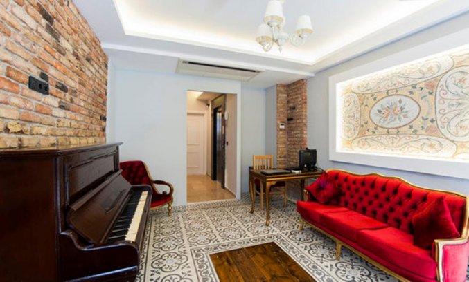 Lounge van Appartementen A Plus Residence in Istanbul