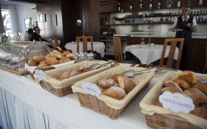 Ontbijt in het hotel san pietro