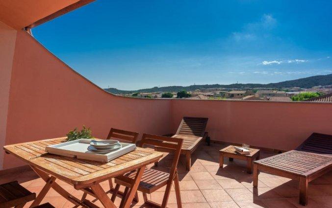 Uitzicht van Residence Cristal Blu op Sardinie