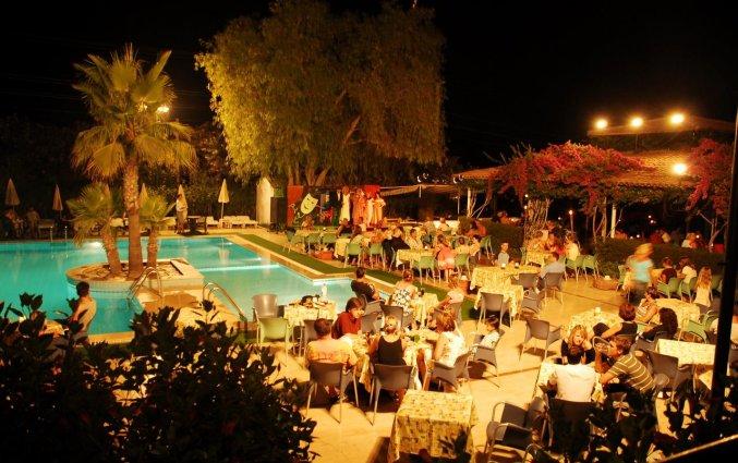 Terras van Hotel Club Titan in Alanya