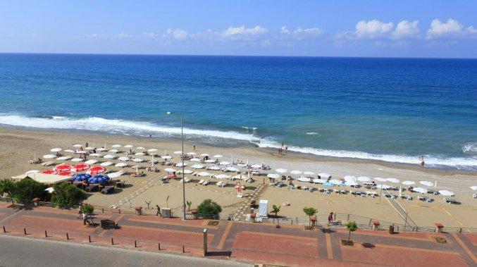 Strand van Hotel Monart City in Alanya