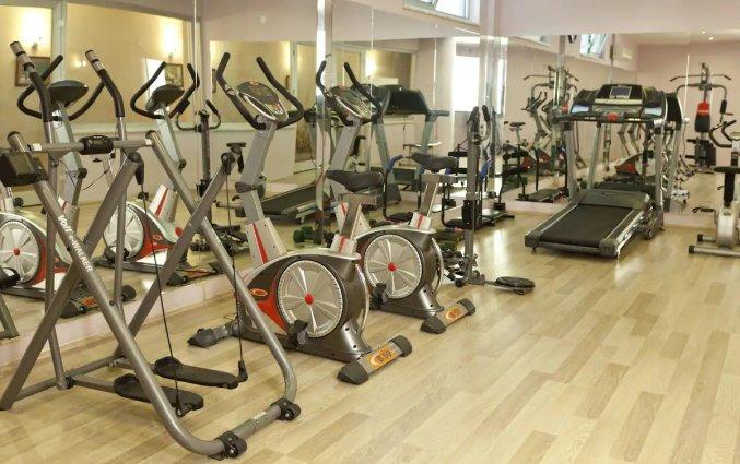 Fitnessruimte van Hotel Monart City in Alanya