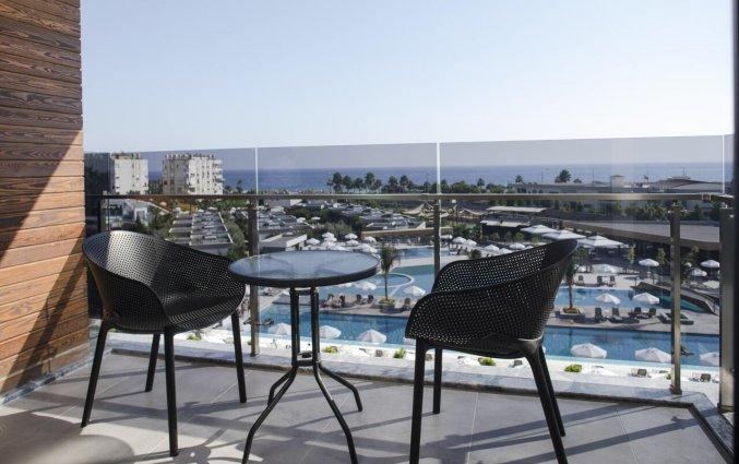 Slaapkamer van Resort Green Garden in Alanya