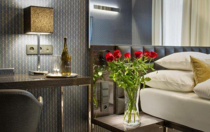 Tweepersoonskamer van Hotel Mucha Praag