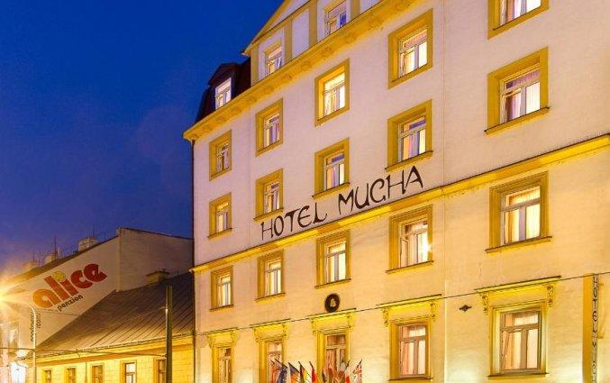 Gebouw van Hotel Mucha Praag