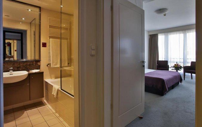 Badkamer van Adina Apartment Hotel Budapest