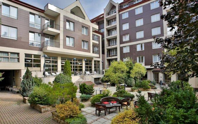 Terras van Adina Apartment Hotel Budapest