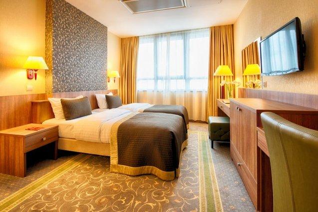 Tweepersoonskamer in het Leonardo Royal Hotel in Warschau