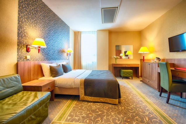 Tweepersoonskamer van Hotel Leonardo Royal in Warschau