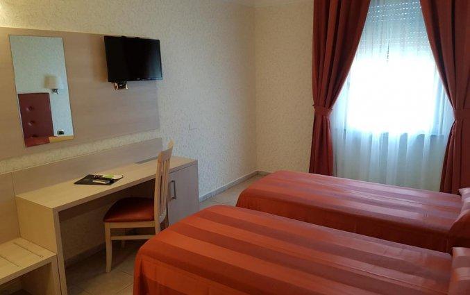 Tweepersoonskamer van hotel Villa Rosa in Rome