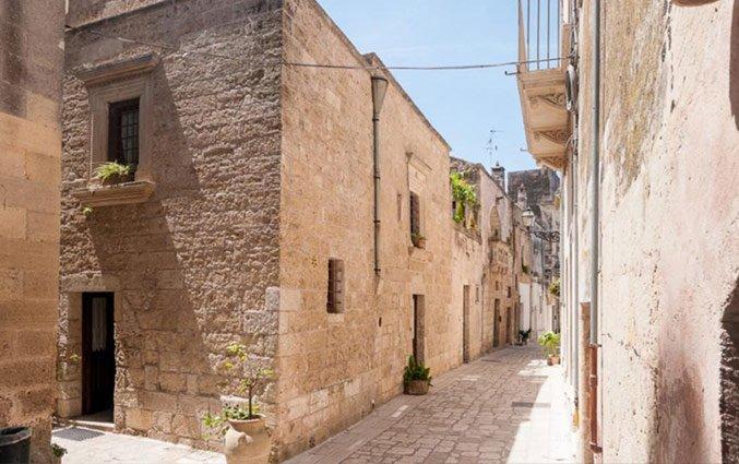 Straatje bij Hotel Borgoterra in Puglia