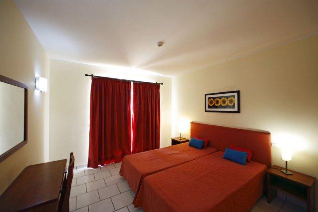 Tweepersoonskamer van appartementen Pateo Village in de Algarve