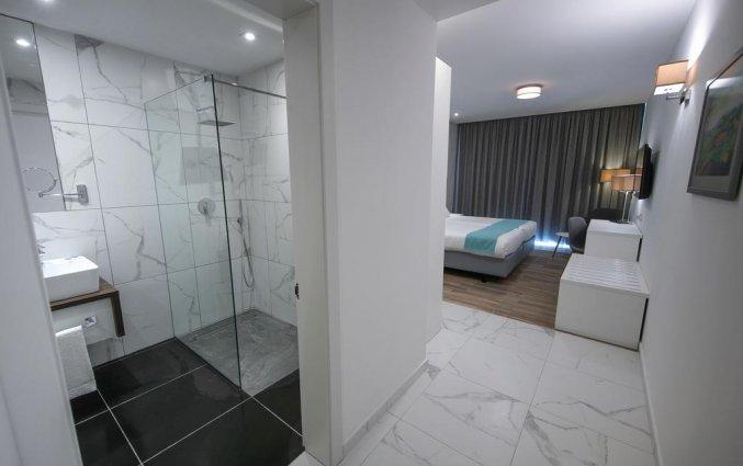 Tweepersoonskamer met badkamer van Hotel Solana op Malta