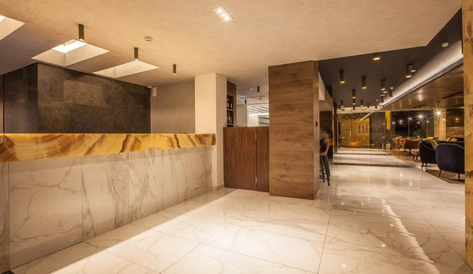 Lobby van Hotel Solana op Malta