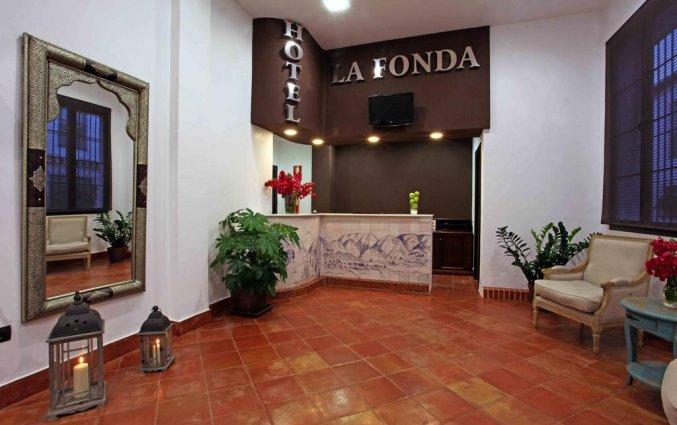 Receptie van Hotel La Fonda in Andalusië