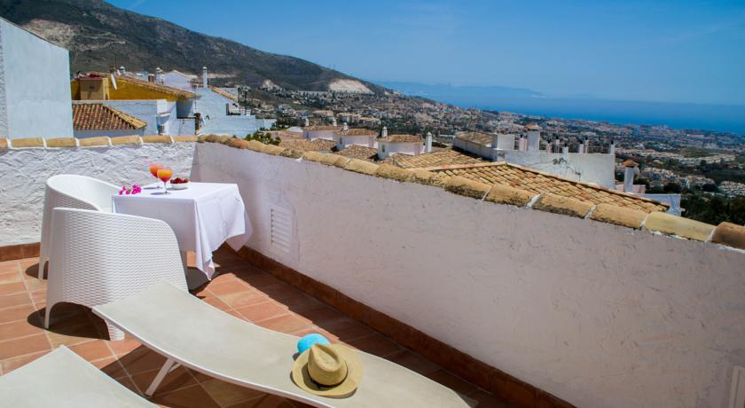 Zonneterras van Hotel La Fonda in Andalusië