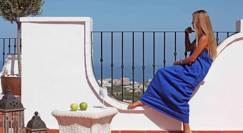 Terras van Hotel La Fonda in Andalusië