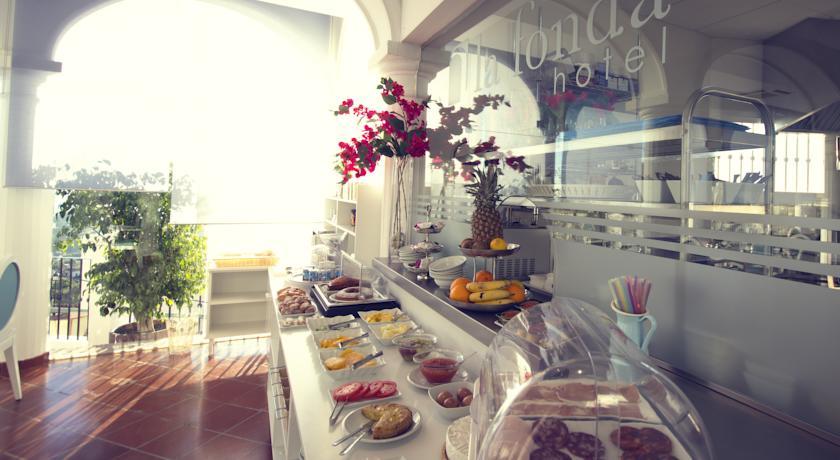 Buffet van Hotel La Fonda in Andalusië