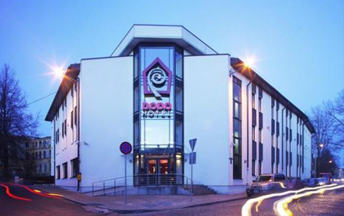Buitenkant van Hotel Dodo in Riga