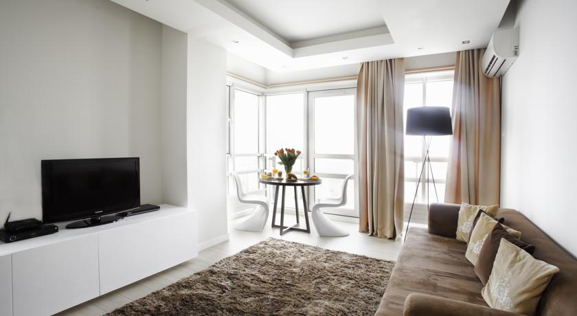Woonkamer van Aparthotel Platinum Residence in Warschau