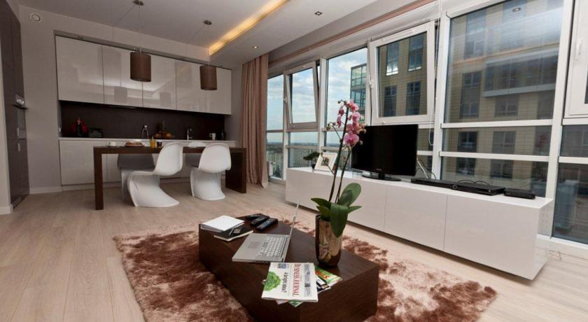 Keuken van Aparthotel Platinum Residence in Warschau