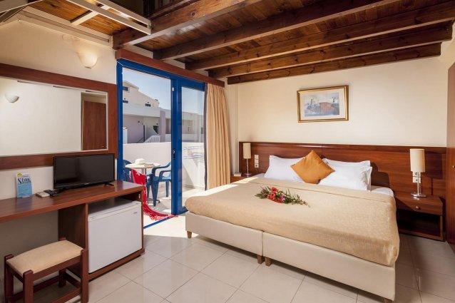 Tweepersoonskamer van Hotel Adelais op Kreta