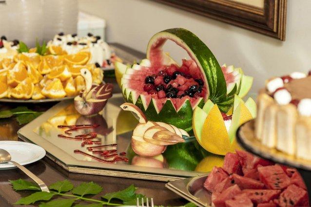 Ontbijtbuffet van Hotel Adelais op Kreta