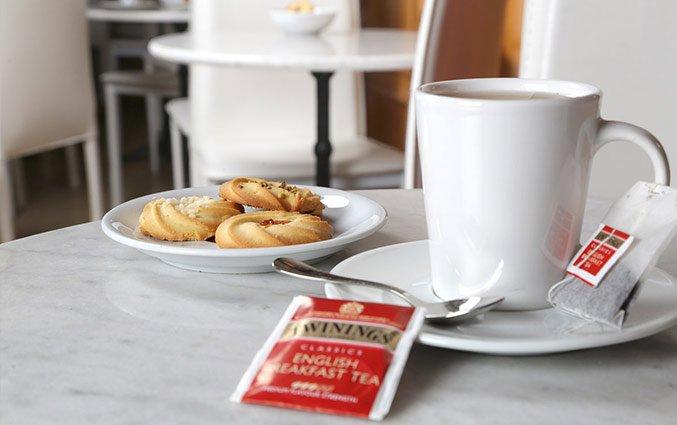 Koffie bij Hotel Santa Prassede Rome