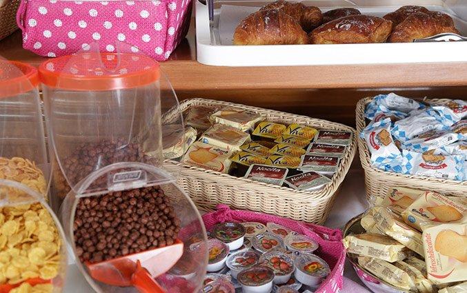 Ontbijtbuffet van Hotel Santa Prassede Rome