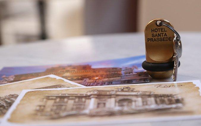 Kamersleutel van Hotel Santa Prassede Rome