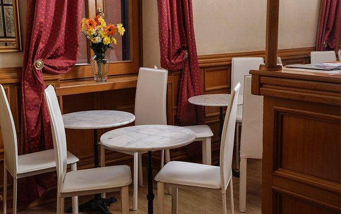 Koffie tafel van Hotel Santa Prassede Rome