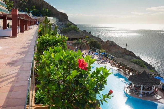 Uitzicht vanaf Hotel Mogan Princess & Beach Club op Gran Canaria