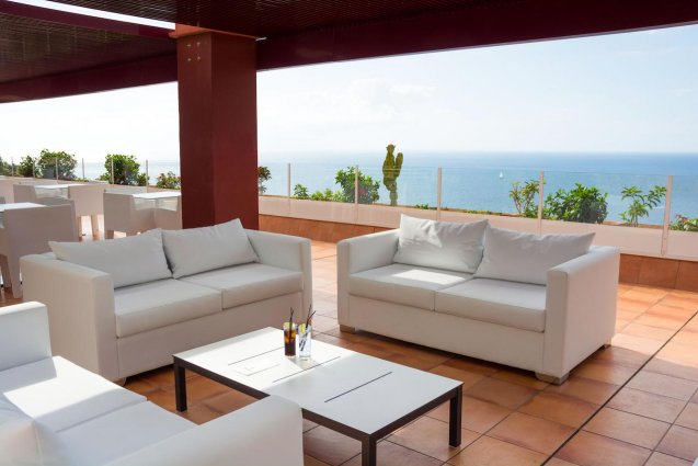 Zitgedeelte van Hotel Mogan Princess & Beach Club op Gran Canaria